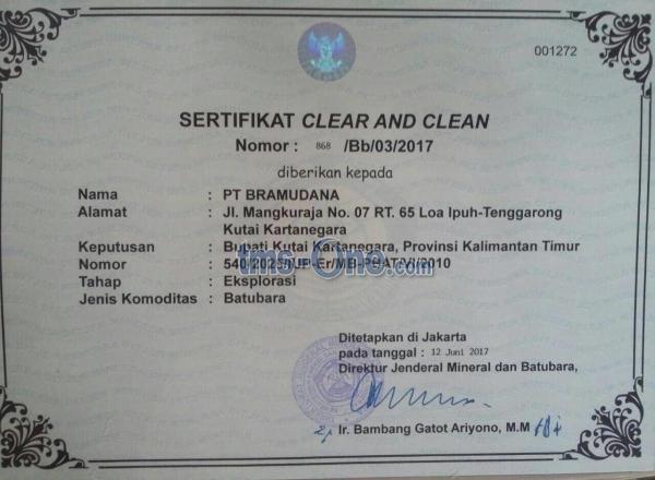 LANGKAH !! Tambang Batubara 4.999HA / 49.990.000 m2 + IJIN LENGKAP SIAP TO ++ OPERASIONAL +++ UNTUNG BESAR, dengan MASA TAMBANG hingga lebih dari 10 TAHUN di Kutai - Kalimantan Timur, TO hanya Rp. 50-M NEGO LANGSUNG PEMILIK