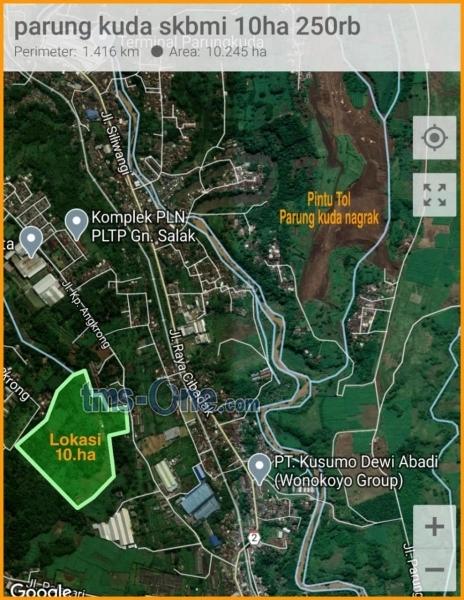Lahan Murah 4HA SHM 6HA AJB Rp. 250rb / m2 di Parung Kuda - Sukabumi - Jawa Barat